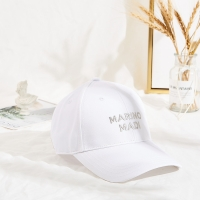 China manufacturers curve brim custom twill cotton white dad hat 6 panel baseball caps wholesale