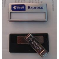Wholesale custom luxury magnetic name badge with insert name paper and logo printing from china suppliers