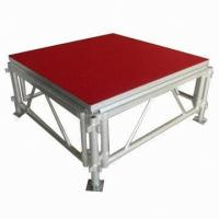 China Portable Waterproof Acrylic / Plywood Temporary Stage Platforms Heavy Loading Adjustable Height wholesale