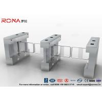 China Gym Swing Barrier Gate Electronic Stainless Steel Turnstile Double Swing IP 54 LED Indicator wholesale