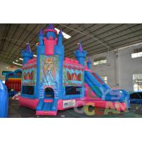 China Princess Castle Inflatable Bounce House for Children Inflatable Obstacle Course Jumping Bouncer with slide wholesale