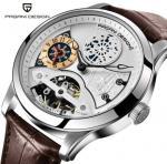China Pagani Design Men Lather Band Waterproof Multifunction Automatic mechanical wristwatch wholesale