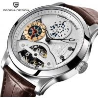 Buy cheap Pagani Design Men Lather Band Waterproof Multifunction Automatic mechanical wristwatch from wholesalers