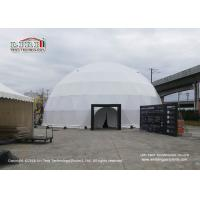 China 25m Diameter White Geodesic Dome Tents With Interior Projection Fabric For Art Festival wholesale