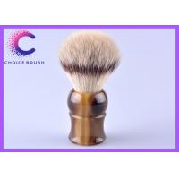 China European synthetic shave brushes ox horn handle 22 * 65mm hair knots wholesale