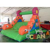 China Mini Worm PVC Vinyl Tarpaulin Inflatable Slide Use In Children Park wholesale