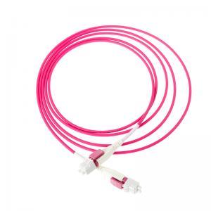 China Duplex Multimode Fiber Optic Cable Uniboot Reverse Polarity OM4 50/125µM Customized on sale