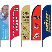 Quality Custom Beach Feather Flags Banner Outdoor With Fiberglass Pole for sale