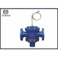 China Brass Pipe Pressure Balanced Control Valve DN65 PN16 GGG50 Body Blue Color wholesale