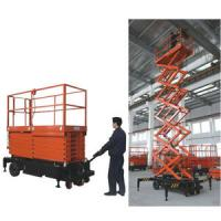 China ISO construction mobile electric lifting platform  / hydraulic scissor lift table Load 1000kg wholesale