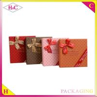 Quality Luxury handmade chocolate paper gift box with bowknot for sale