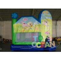 Quality Green Indoor Playground With Bouncy Castle / Funny Bouncy Jumping Castles for sale