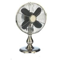 China High Speed Oscillating Personal Electric Fan 12 Inch Adjustable Tilt Brush Nickel on sale