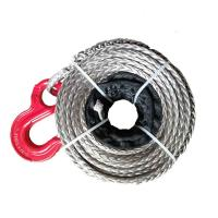 China Grey 12mm*30m Synthetic Winch Rope For Boat Winch Easily Spliced Free Shipping wholesale