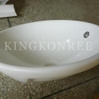 artificial marble single bathroom sink and basin