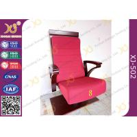 China High Plywood Back Embroidered Chairs for Church Hall With Single Legs wholesale