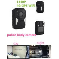 China OEM 1440P Wearable Wifi Camera / Waterproof Live Streaming Body Camera With 4g Gps on sale