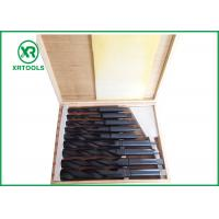 China Roll Forged / Milled HSS Taper Shank Drill Bit Set With Wooden Box DIN 345 on sale