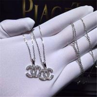 China Luxury full diamonds of classic logo necklace 18kt gold  with yellow gold or white gold wholesale