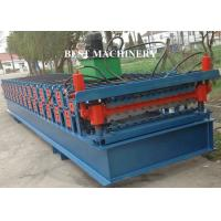 China Metal Roofing Sheet Roll Forming Machine Two Layer 4kw 3kw Power Blue Color on sale