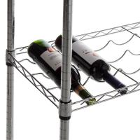 "China Carton Steel 5 Shelf Wire Wine Rack With 34""Posts Adjustable  ODM on sale"