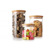 China Clear Airtight Borosilicate Glass Jar With Cork Lid For Kids Cylinder Shape on sale