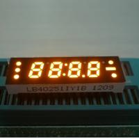 China 0.25 Inch Yellow Four Digit 7 Segment LED Clock Display , Small Current Drive wholesale