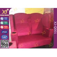 China Wooden Frame Fabric Cover VIP Cinema Seating With Armrest / Home Cinema Sofa Seating wholesale