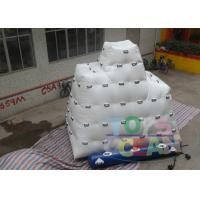 China Amazing Floating Iceberg Climbing Wall / Inflatable Games For Adults wholesale