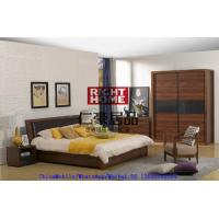 China 2016 New Nordic Design Furniture by Leather Upholstered lift storage bed with Sliding door Wardrobe and Drawer Chest wholesale