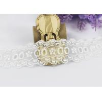 China Floral Embroidery Polyester Eyelet Lace Trim For Women Dresses / Home Textile wholesale