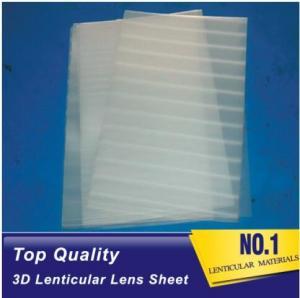 China Plastic Lenticular super transparent thin161lpi 0.25mm PET 3d lenticular lens plastic sheet film for UV offset prining wholesale