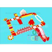 China Sea Play Commercial Wibit Water Park Inflatable Aqua Park Fun Red Yellow White wholesale