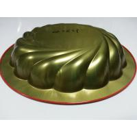 China Red Metal Tin Serving Trays , Round Water / Food Serve Tray For Restaurant wholesale
