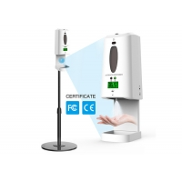 China Refillable Automatic Soap Dispenser Digital Infrared Thermometer Portable Hand Sanitizer Disinfection Machine wholesale