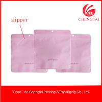China Small Pink Zip Lock Plastic Garment Clothing Packing Bags Of Bopp / Cpp on sale