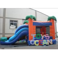 China PVC Tarpaulin 4m Hight Inflatable Bouncer with Slide Combo Jungle For Fun wholesale