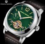 China PAGANI DESIGN Leather Band  Men Automatic mechanical wrist watch PD-2769 wholesale