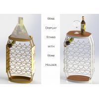 China 23 Bottles Wine Barrel Food Display Stands For Store / Home Not Knocked Down wholesale