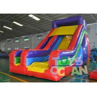 China Lead Free Lovely Giant Bouncy Slide Kids Adult Party 15OZ Plato PVC wholesale