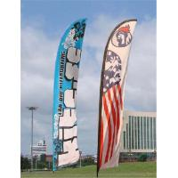 Quality Double Sided Beach Flag Banner Sublimation Printing Aluminum / Fiberglass Poles for sale