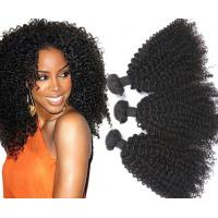 8A Curly Human Hair Extensions / Smooth Brazilian Human Hair Extensions