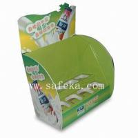 China New Drinks POS Cardboard Counter display stand for promotion wholesale