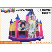 Buy cheap Pink or White Commercial Inflatable Bouncy Castle / Inflatable Jumping Bouncer from wholesalers