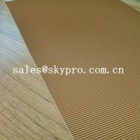 China Abrasion Resistant Natural Crepe Shoe Sole Rubber Sheet Corrugated Pattern wholesale
