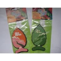 China Eco friendly fish shape paper air freshener,various colors for choose on sale