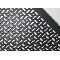 China OEM Ral Black Aluminum Perforated Metal Screen Sheet Powder Coated Uniform Sound Abatement wholesale