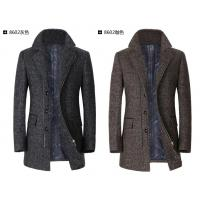 Buy cheap Medium To Long Slim Herringbone Men's Winter Coat With Zipper / Button For Business from wholesalers