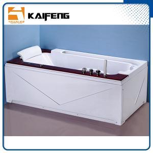China Luxury Single Jacuzzi Tub Air Jet Bathtub With Oak Wood Bead Computer Controller on sale