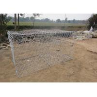 China Galfan 10AL - Zn Maccaferri Gabion Wire Mesh Basket For Dam Protecting wholesale